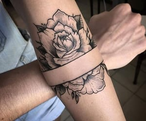 black, rose, and roses image