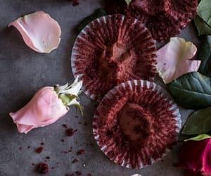 cupcakes, deep dark, and red velvet image