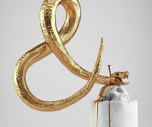 snake, art, and gold image