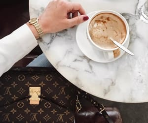 bags, coffee, and coffee cup image