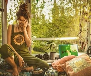 green, hippie, and home image
