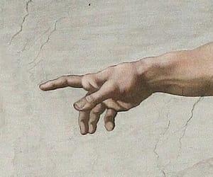 art, michelangelo, and hands image