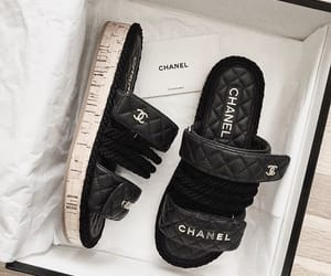 chanel, fashion, and sandals image