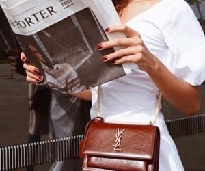 fashion, YSL, and newspaper image