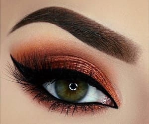 eyeliner, green, and make up image