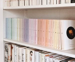 book shelf, قراءة, and books image