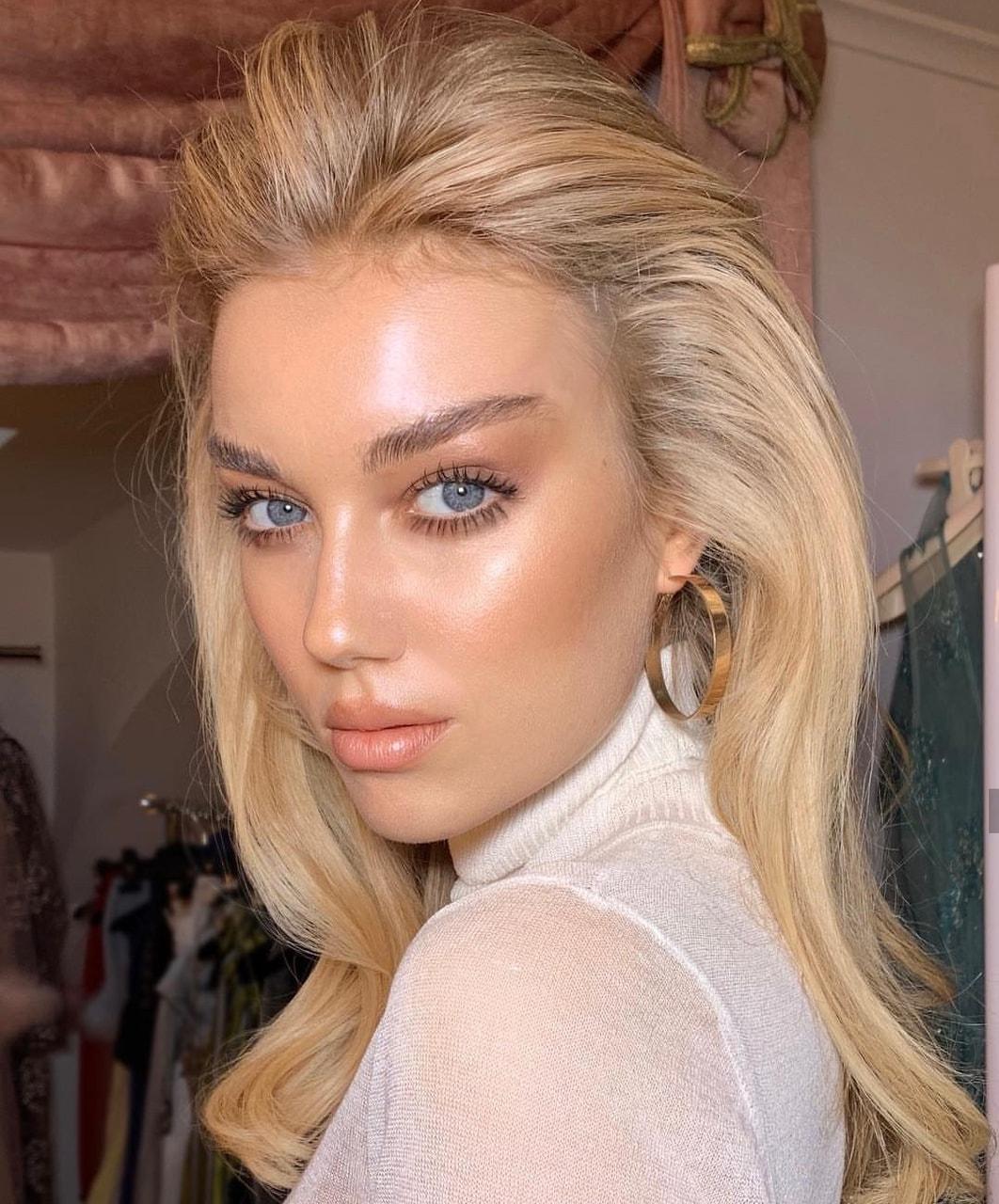 blonde, make up, and make up artist image