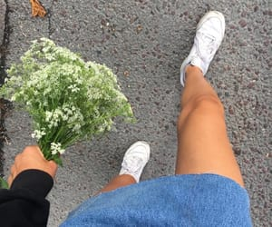 adventure, flowers, and girl image
