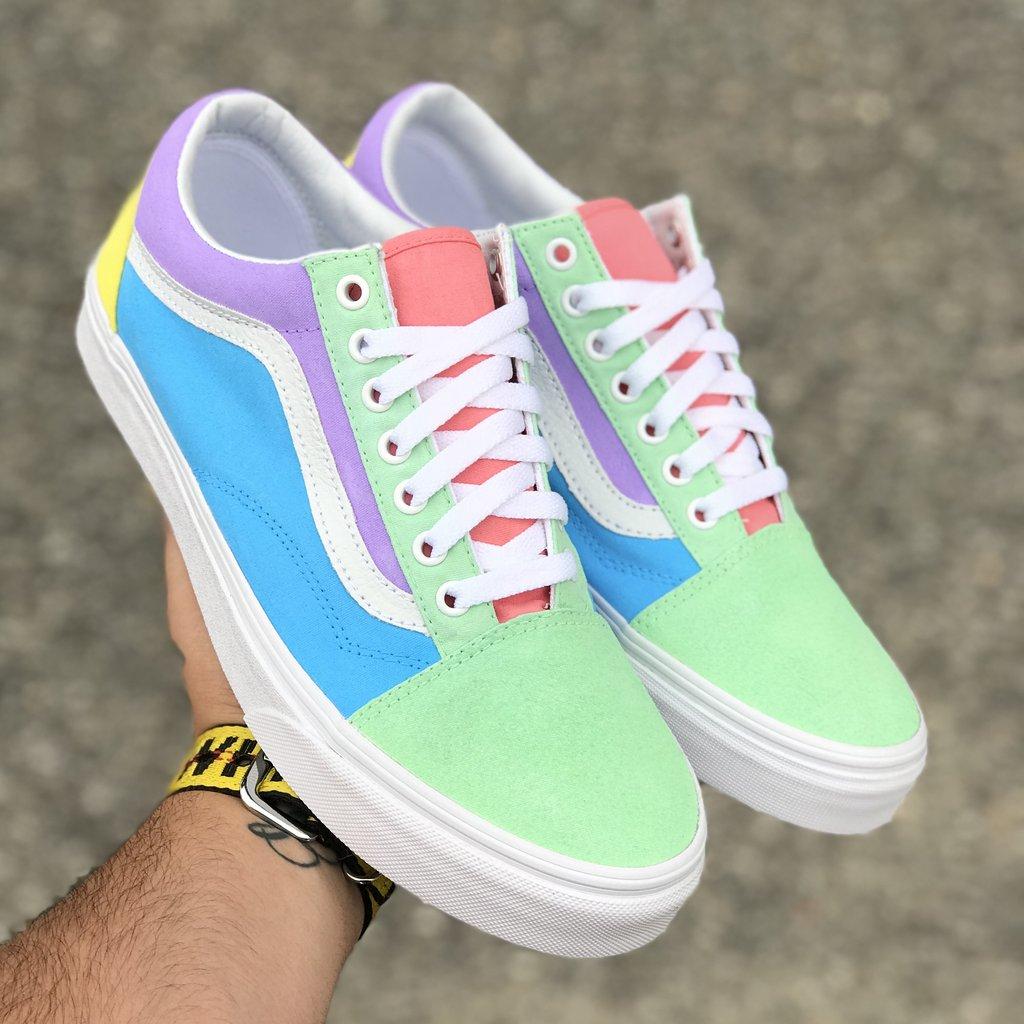 vans couleur pastel