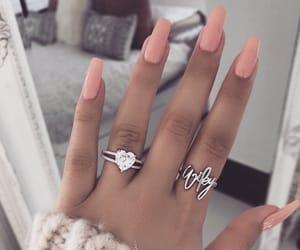 girly, pink, and nail inspo image