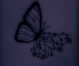 alternative, black, and butterflies image