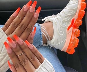 nails, beauty, and nike image