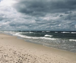 Baltic Sea, beach, and cold image