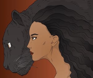 art, beautiful, and black panther image