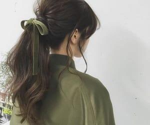 fashion, green, and hair image