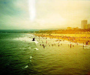 lomography, beach, and photography image