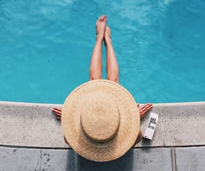 fashion, hat, and pool image