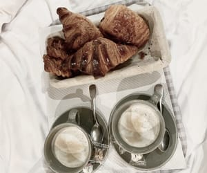 coffee, croissant, and fresh taste image