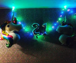 21, 🦄, and birthday image