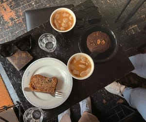 bread, brown, and cafe image