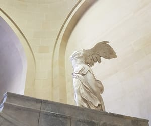 nike, paris, and musée du louvre image