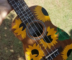 guitar and sunflower image