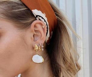 accessories, earrings, and golden image