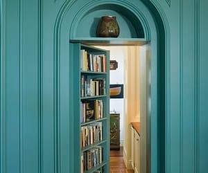 book, door, and secret image