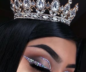 makeup and crown image