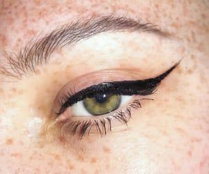 eyeliner, green eyes, and eyeline image