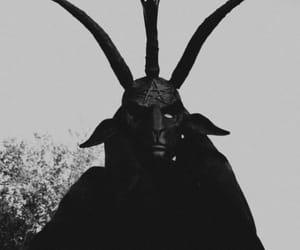 666, pentagram, and baphomet image
