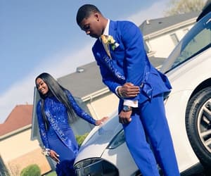 blue, melanin, and Prom image