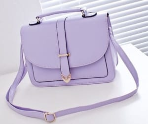 bag, handbag, and purple image