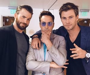 chris evans, chris hemsworth, and robert downey jr image
