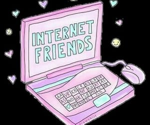 internet, friends, and overlays image