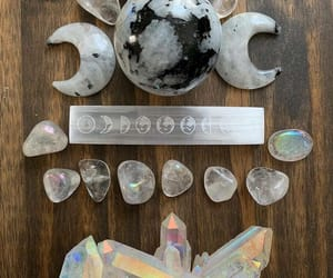 aesthetic, crystals, and dark image