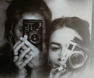 art, bw, and women image