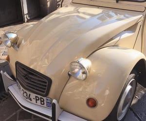 car, vintage, and beige image
