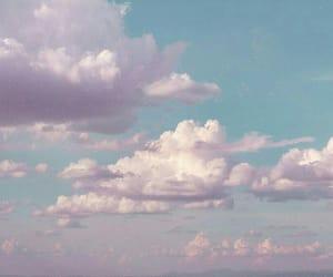 art, pink, and sky image
