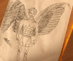 angel, draw, and archangel image