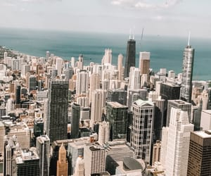 chicago, city, and downtown image