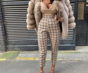 beige, fur coat, and fashion image