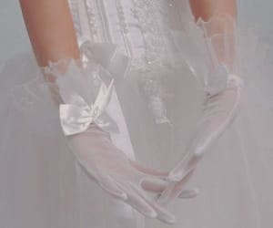 white, aesthetic, and gloves image