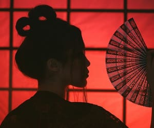 red and geisha image