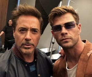 Marvel, chris hemsworth, and robert downey jr image