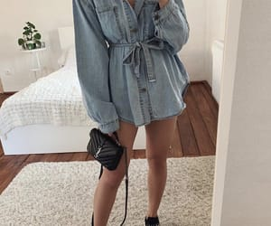 black, blue, and dress image