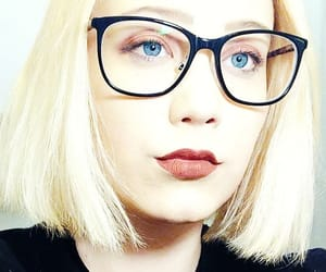 blue eyes, glasses, and youth image