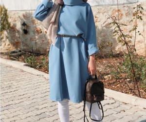 dress, spring, and hijab image