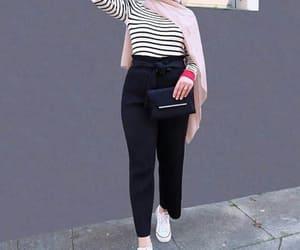 high waisted pants, dressy pants, and bow pants image