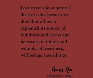 anais nin, heartbreak, and quote image